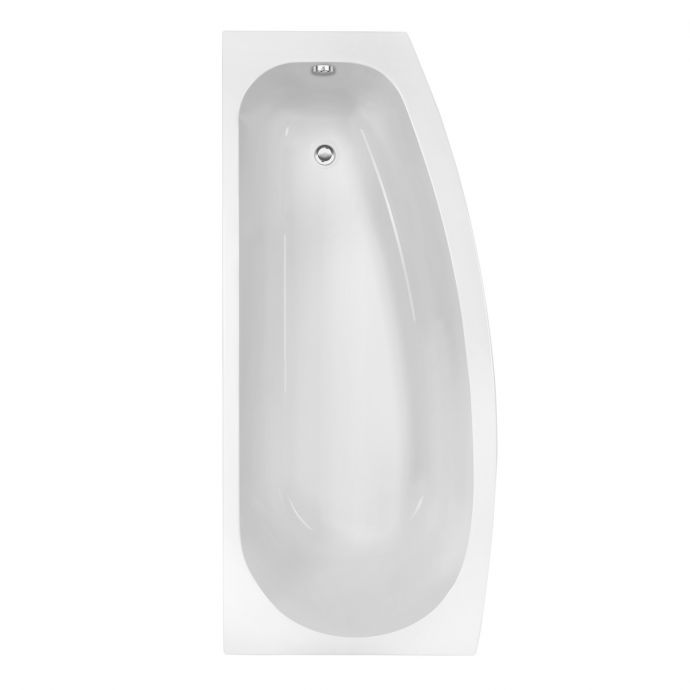 Trojan Space Saver Bath 1690 x 690 with Panel & Screen Right Hand