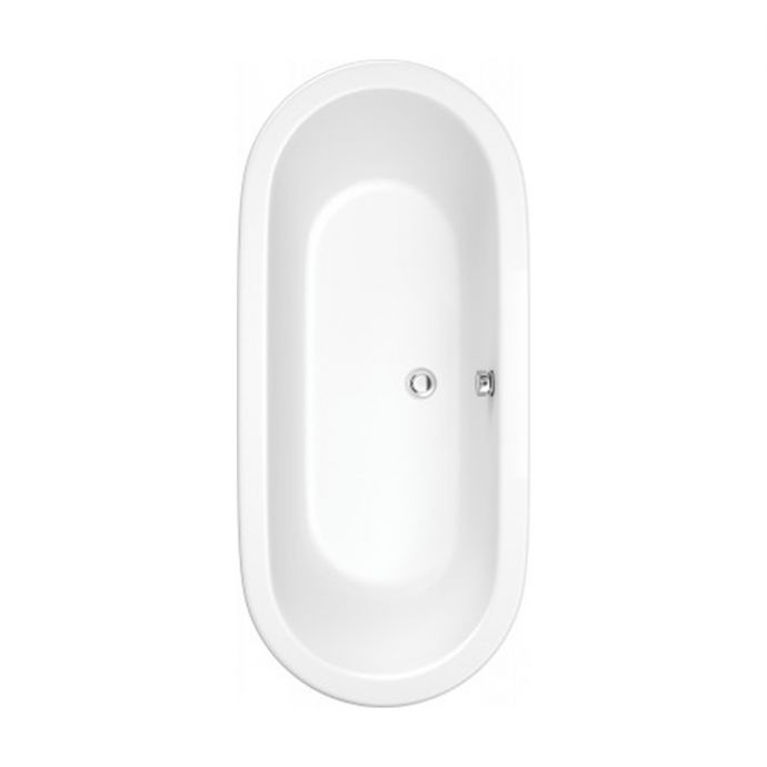 Trojancast Oval Inset Reinforced Double Ended Bath 1800 x 790