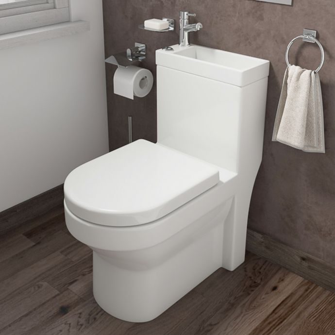 Two In One Combination Close Coupled Toilet with Wash Basin