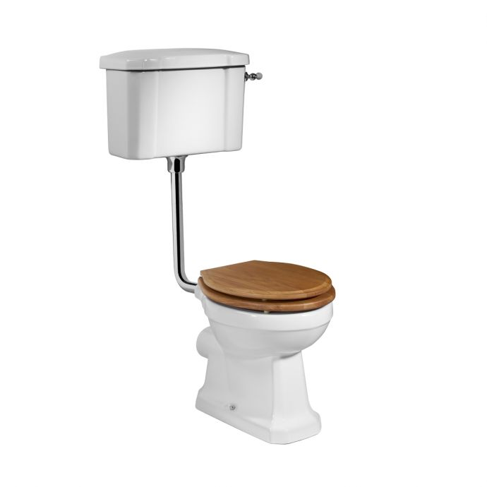 Tavistock Vitoria Low Level Toilet Inc Oak Soft Close Seat