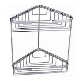 Alfred Victoria Double Corner Basket Stainless Steel