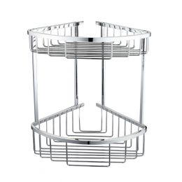 Alfred Victoria Double Round Corner Basket Chrome