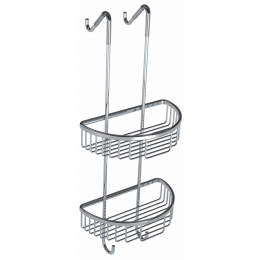 Alfred Victoria Double Round Wire Soap Caddy Chrome