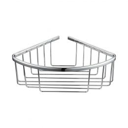 Alfred Victoria Single Round Corner Basket Chrome