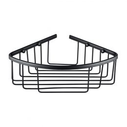 Alfred Victoria Single Round Corner Basket Matt Black