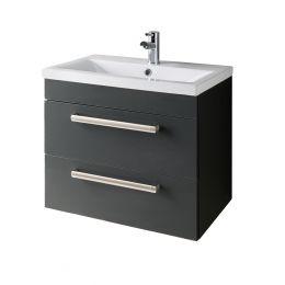 Andante Wall Hung Vanity Unit & Basin Grey 600mm