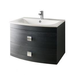 Bailey Wall Hung Vanity Unit & Basin Black Oak 700mm