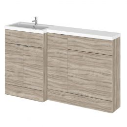 Hudson Reed Fusion Combination Furniture & Basin Driftwood 1500mm Left Hand Option B