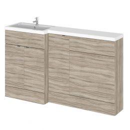 Hudson Reed Fusion Combination Furniture & Basin Driftwood 1505mm Left Hand Option B