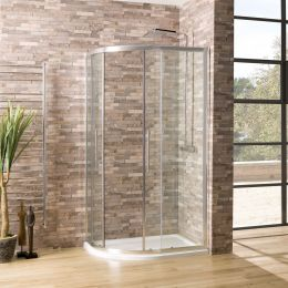 Coral 6mm Offset Quadrant Shower Enclosure 1200 x 760mm