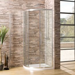 Coral 6mm Quadrant Shower Enclosure 900 x 900mm