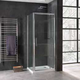 Coral 8mm Pivot Shower Enclosure 900 x 900mm