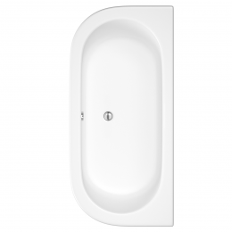 Trojancast Reinforced Curved D Shape Bath 1700 x 800mm with Panel
