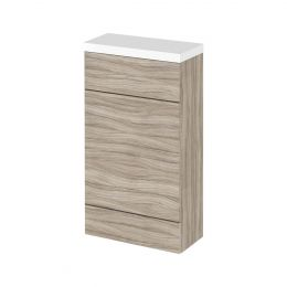 Hudson Reed Fusion Back To Wall Toilet Unit & Worktop Driftwood 500mm
