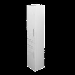 Glacier 2 Door Tall Storage Unit White 350mm