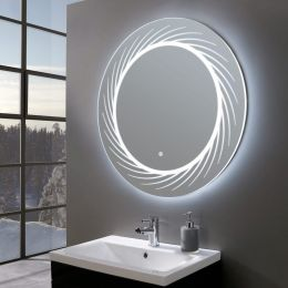 Opulent Ultra Slim Round LED Illuminated Mirror 800mm