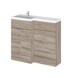 Hudson Reed Fusion Combination Furniture & Basin Driftwood 1000mm Left Hand