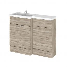 Hudson Reed Fusion Combination Furniture & Basin Driftwood 1105mm Left Hand