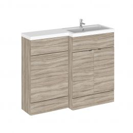 Hudson Reed Fusion Combination Furniture & Basin Driftwood 1105mm Right Hand
