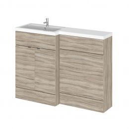 Hudson Reed Fusion Combination Furniture & Basin Driftwood 1200mm Left Hand Option A