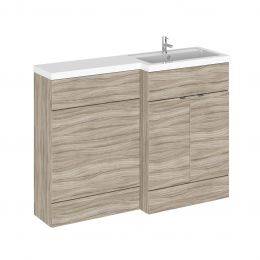 Hudson Reed Fusion Combination Furniture & Basin Driftwood 1205mm Right Hand Option A