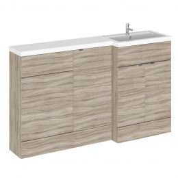 Hudson Reed Fusion Combination Furniture & Basin Driftwood 1505mm Right Hand Option A