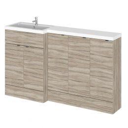 Hudson Reed Fusion Combination Furniture & Basin Driftwood 1500mm Left Hand Option C