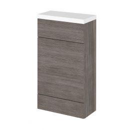 Hudson Reed Fusion Back To Wall Toilet Unit & Worktop Grey Avola 500mm