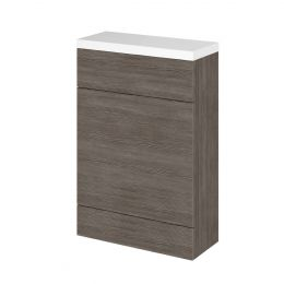 Hudson Reed Fusion Back To Wall Toilet Unit & Worktop Grey Avola 600mm