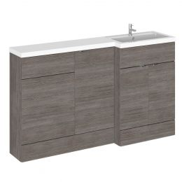 Hudson Reed Fusion Combination Furniture & Basin Grey Avola 1500mm Right Hand Option A
