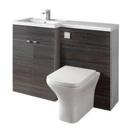 Hudson Reed Fusion Combination Furniture & Basin Hacienda Black 1205mm Left Hand Option A