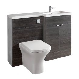 Hudson Reed Fusion Combination Furniture & Basin Hacienda Black 1200mm Right Hand Option A