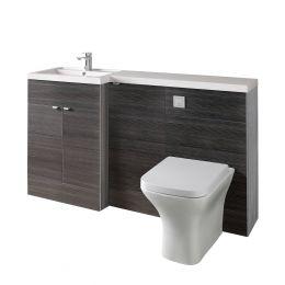 Hudson Reed Fusion Combination Furniture & Basin Hacienda Black 1505mm Left Hand Option A