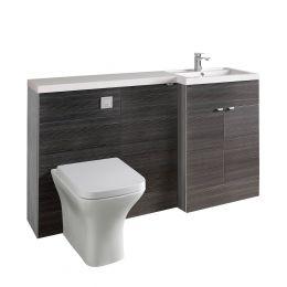 Hudson Reed Fusion Combination Furniture & Basin Hacienda Black 1500mm Right Hand Option A
