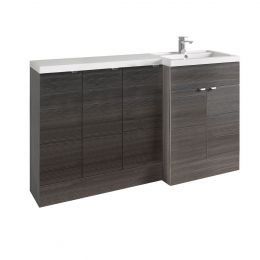 Hudson Reed Fusion Combination Furniture & Basin Hacienda Black 1505mm Right Hand Option C