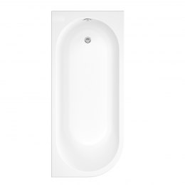 Trojancast J Shape Reinforced Bath 1695 x 745mm with Panel Right Hand
