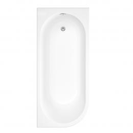 Trojancast J Shape Reinforced Bath 1695 x 745mm with Panel Right Hand
