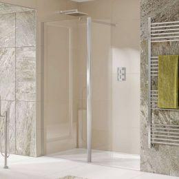 Kudos Aquamark 8mm Wet Room Glass Shower Panel 1400mm