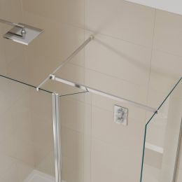 Kudos Aquamark 8mm Wet Room Glass Hinged Deflector Panel 300mm
