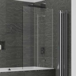 Kudos Inspire 8mm Two Panel Out Swing Bath Screen Right Hand
