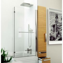Kudos Inspire L Shape Shower Bath Screen with Towel Rail
