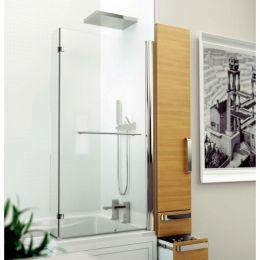 Kudos Inspire L Shape Shower Bath Screen with Towel Rail