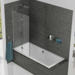 Kudos Inspire 6mm Two Panel In Fold Bath Screen Left Hand