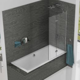 Kudos Inspire 6mm Two Panel In Fold Bath Screen Right Hand