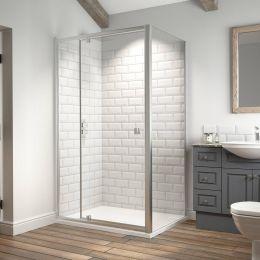 Kudos Original 6 Straight Pivot Shower Door 1000mm