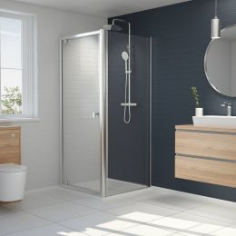 Kudos Original 6 Straight Pivot Shower Door 900mm