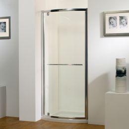 Kudos Original Bowed Pivot Shower Enclosure 900 with Concept 2 Shower Tray