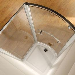 Kudos Original Bowed Pivot Shower Enclosure 900 x 800 with Concept 2 Shower Tray
