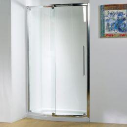 Kudos Original Bowed Sliding Shower Enclosure 1500 with Concept 2 Shower Tray