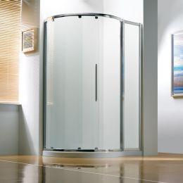 Kudos Original Offset Curved Sliding Shower Enclosure 1270 x 910 with Concept 2 Shower Tray Right Hand